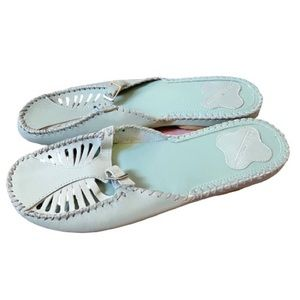 Predictions Light Blue Cut Out Sandals